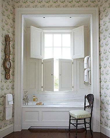cozy nook   tub love  shutters    open