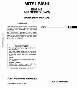 Mitsubishi 4g9  4g92  4g93  4g94  Series Engine Repair