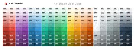 tableau de couleur design plat codes couleur html