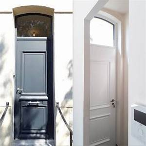 Poser Une Porte D Entrée En Rénovation : pose d 39 une porte d 39 entr e avec imposte en aluminium de ~ Dailycaller-alerts.com Idées de Décoration