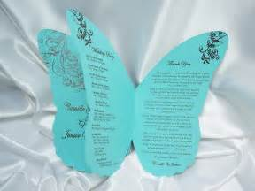 diy wedding program fans kits butterfly wedding invitation quotes invitation templates