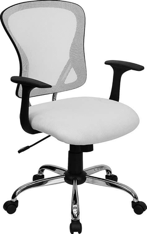 white mesh back ergonomic swivel tilt home office den task