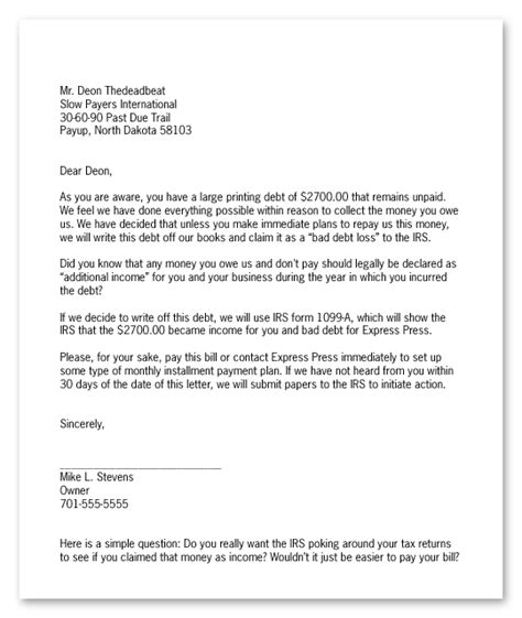 debt collection letter the world s best collection letterpart two this thing