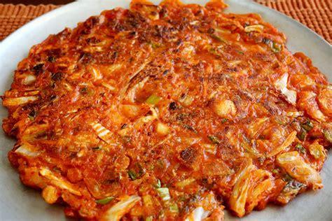 water salt kimchi pancake kimchijeon recipe maangchi com