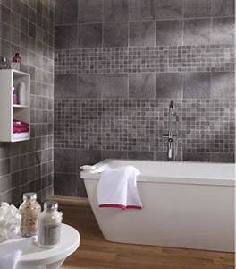 carrelage mural salle de bain gres cerame gris leroy merlin With carrelage mural de salle de bain