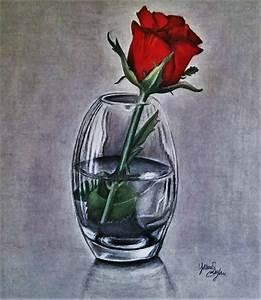 Rose in Vase by YasminSadeghi on DeviantArt