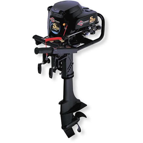 Small Boat Motors by Briggs Stratton 174 5 Hp 4 Cycle Outboard Motor 73290