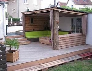 Terrasse en palettes abri exterieur diypalettes for Jardins et terrasses photos 4 creation bois terrasses pergolas abris de jardin clature