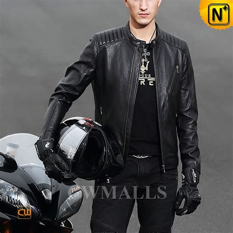 mens motorbike cwmalls mens leather motorcycle jacket cw806032