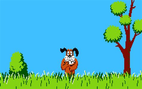 Duck Hunt 8 Bit Nintendo Entertainment System Dog