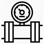 Gas Icon Meter Oil Pipeline Gauge Pipe