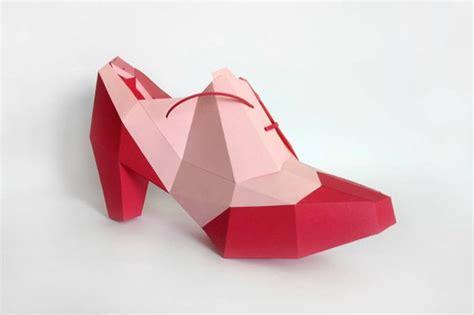 Papercraft 3d Paper Craft Diy High Heels Shoe Papercraft