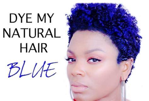 Natural Hair How I Dye Blue Hair Video Natural