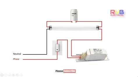 Tube Light Circuit Wiring Diagram Youtube