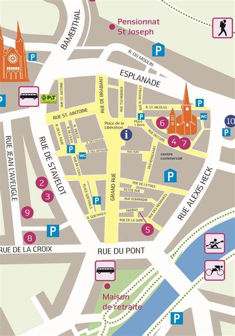 Mairie Ville De Plan De Syndicat D 39 Initiative De La Ville De Diekirch Plan De La