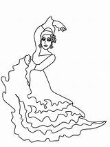 Flamenco Spanish Coloring Dancer Template Dancers Dibujos Sevillanas Colouring Gifs Visit Colorear Tags Comments Printablecolouringpages sketch template
