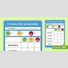 * New * Ficha De Premiação  Gráfico De Recompensa, Recompensa Escolar