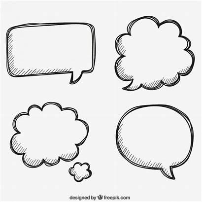 Speech Bubbles Drawn Hand Vector Dialog Vectors