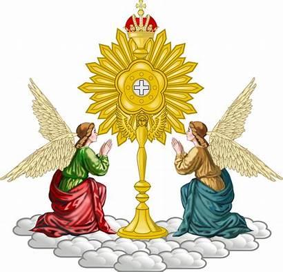 Church Catholic Emblem Monstrance Angels Maria Christian