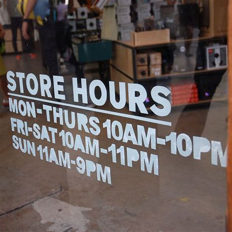 And Decor Store Hours by 9 Height Simple Custom Business Hours Sign Vinyl By