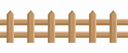 Fence Clip Clipart Garden Picket Box Wood