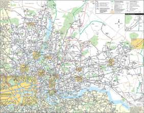 Map of London bus & night bus: stations & lines