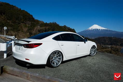 Cars Vossen Tuning Wheels Mazda-6 White Wallpaper