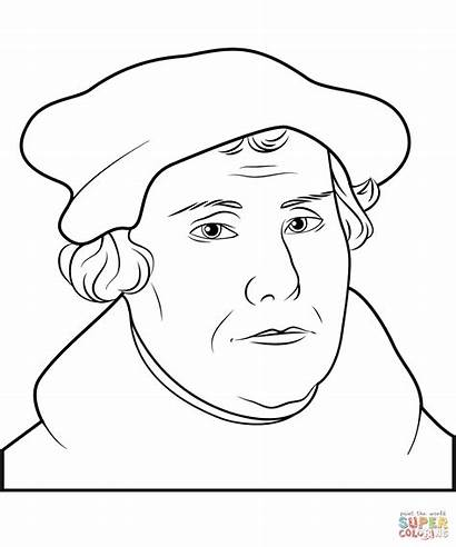 Luther Martin Coloring Printable Ausmalbild Rose Reformation
