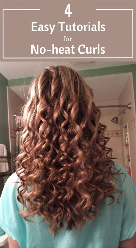 4 easy tutorials for no heat curls my style curls no