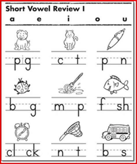 vowel worksheets 1st grade project edu
