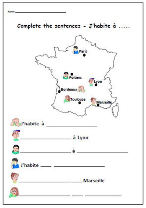 FRENCH Writing Activity Printable Language Worksheet ...