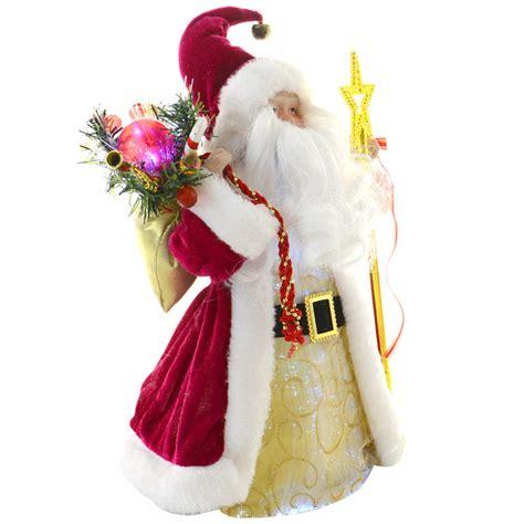 12 quot fibre optic festive santa claus light up colour