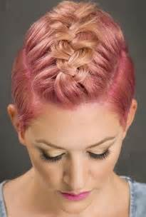 Short Hair Mohawk Braid