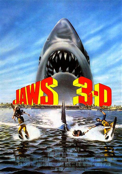 JAWS 3-D 1983 RED / BLUE ANAGLYPH UNDERWATER 3D HORROR ...