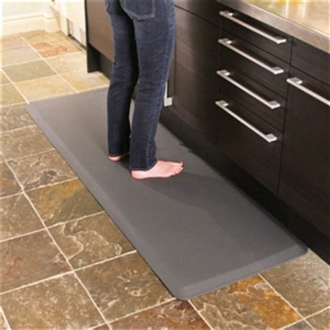 anti fatigue kitchen floor mats wellnessmats anti fatigue kitchen floor mat grey 6x2 7457