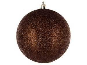 brown glitter ball ornaments shop hobby lobby