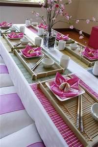 Japanisches Schlafzimmer Selber Machen : asiatische tischdeko erkl rung in 40 exotischen ideen ~ Markanthonyermac.com Haus und Dekorationen
