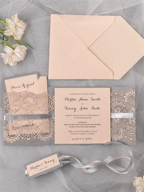 etsy wedding invitations and grey lace wedding invitation www etsy shop 4lovepolkadots the merry