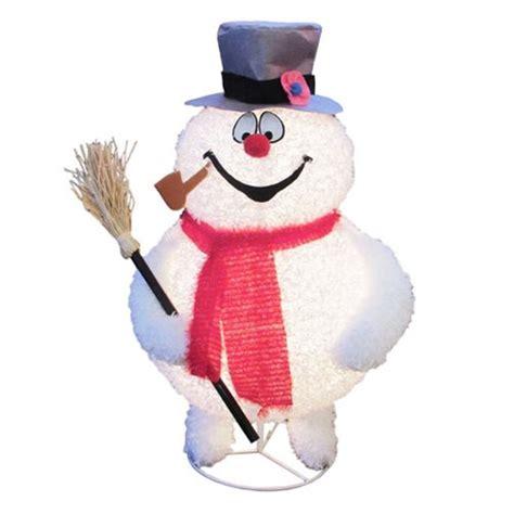 frosty the snowman 28 inch led lawn decoration kurt s