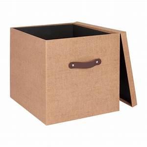 Boite De Rangement Carton : come bo te de rangement en carton marron habitat ~ Teatrodelosmanantiales.com Idées de Décoration