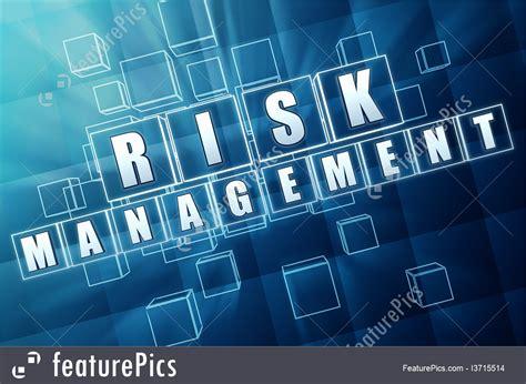 risk management  blue glass cubes illustration