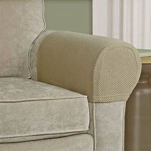 Sofa armrest protector stretch fabric furniture couch for How to cover furniture with fabric