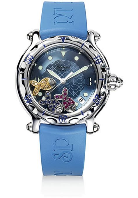 promo chopard 827 blue chopard happy sport happy watches from swissluxury