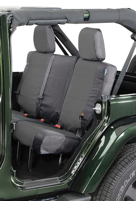 jeep wrangler backseat coverking rear ballistic nylon seat covers for 07 10 jeep