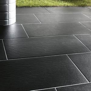 Carrelage Terrasse Gris : carrelage gris anthracite terrasse maison et mobilier ~ Nature-et-papiers.com Idées de Décoration