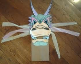 chinese dragon paper bag puppet  johana zegarra tpt