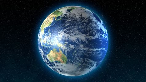 Rotating Earth Animation Wallpaper - earth globe rotating in space digital animation stock