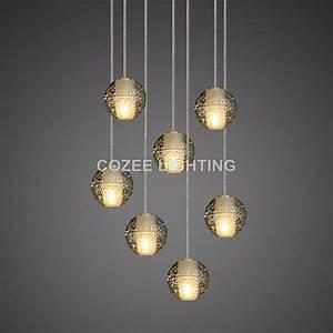 Crystal Chandelier Bedroom Lighting Modern Crystal Chandelier Led Hanging Lighting Glass Globe