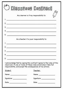 10 best learning contracts images on pinterest school With student teacher contract template
