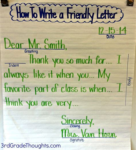 freebie reading writing friendly letter writing